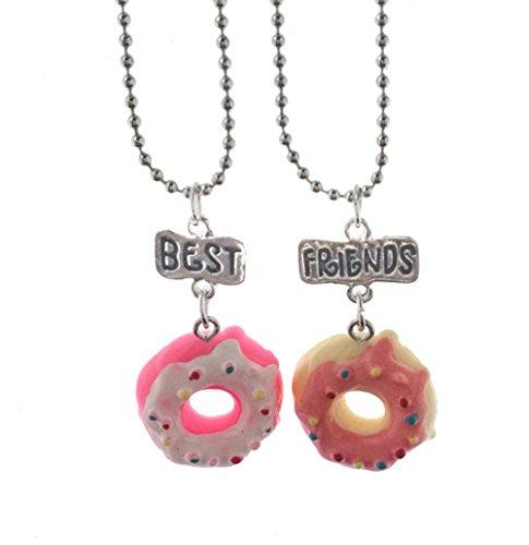Elegant Rose Conjuntos de 2 Unidades Aleación Collares Best Friends Forever and Ever Cake Donuts Creativo Friendship Regalo para Amigos Niñas