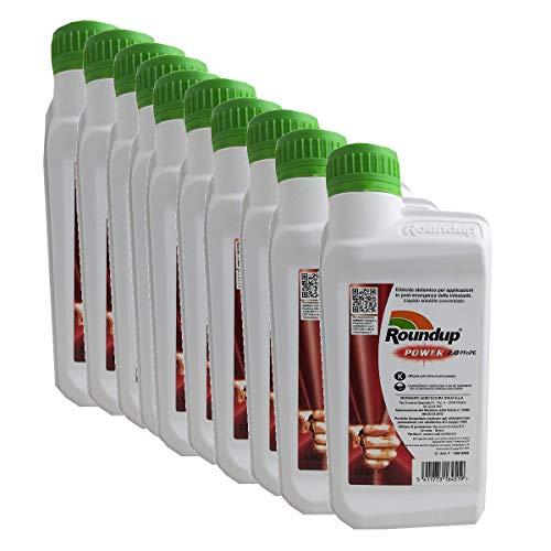MONSANTO 5 Litri di Roundup Power 2.0 erbicida Post-Emergenza Glifosate Acido Puro 360 gr/lt (10 X 500 ML)