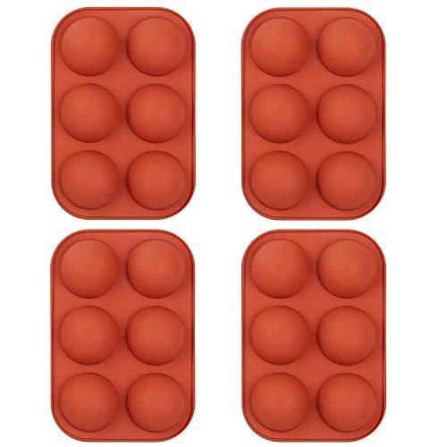Stampo in silicone a 6 cavità semi-sfere, 3 Confezioni Strumento di cottura Stampi Per Dolci Per Cottura A Forma Rotonda per Torta, Sapone, Cioccolato, Gelatina, Pane, Budino, Muffin