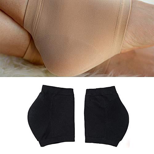 HUANGMENG Mode Hiver antifissurant Chaussettes à Talon hydratantes Silicone, Une Paire, Taille: Code M (39-43) (Noir) (Color : Black)