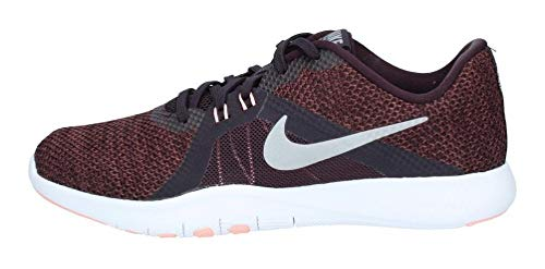 Nike, Flex Trainer 8 Cross, scarpe da ginnastica, da donna, Marrone (Burgundy Ash/Metallic Silver), 40 EU