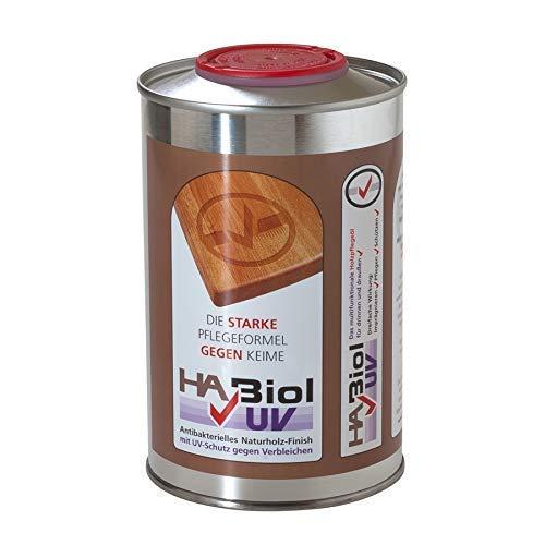 HABiol UV 0,5l Holzöl Holzpflege Arbeitsplattenöl Möbelöl Küchenplattenöl Terrassenöl Gartenmöbelöl für Innen & Außen