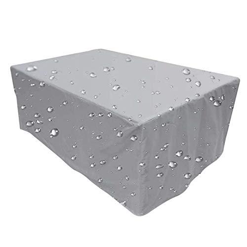 YANGHUI Funda para Mesa Muebles de jardín Poliéster Mesa Rectangular Cubierta Impermeable al Aire Libre Patio Protección,110 * 110 * 85CM
