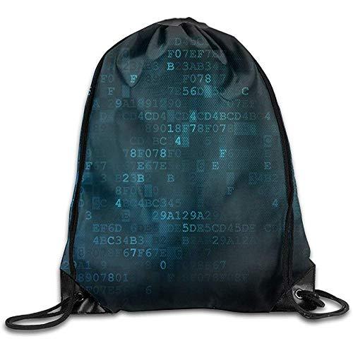 Casual Cinch Pack Programmierkonzept Datenbank Mit Wolke Auf Digitalem Hintergrund Kordelzug Beam Mouth Gym Sack Umhängetaschen Für Männer Frauen