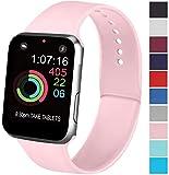 AK Cinturino Compatibile per Apple Watch 44mm 42mm 38mm 40mm, Cinturino Sport in Silicone Cinturino Uomo e Donna per iWatch Serie 5 4 3 2 1 (08 Pink, 38/40mm S/M)