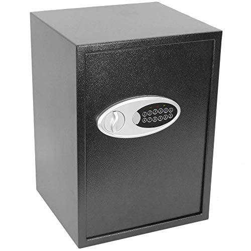 PrimeMatik - Caja Fuerte de Seguridad de Acero con código electrónico Digital 36x33x50cm Negra