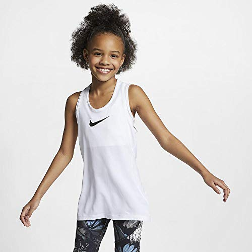 Nike Girls' Pro Dri-FIT Racerback Tank Top White L