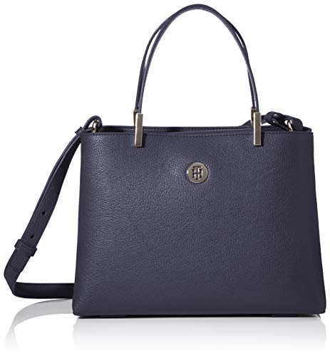Tommy Hilfiger Damen Th Core Med Satchel Tornistertasche, Blau (Sky Captain), 1x1x1 cm