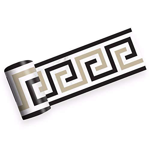 2 pezzi Adesivi Murali, Pavimenti Adesivo per Piastrelle in Ceramica stile Marmo Modello Europeo Adesivi Impermeabili, 200 * 10 cm (Stile nordico)