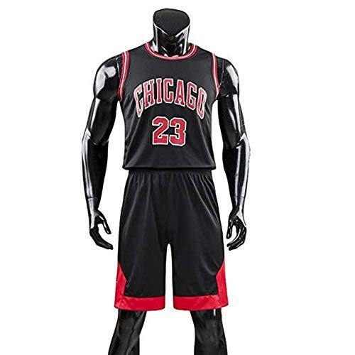 AZHom Nuevos Jerseys de la NBA Trajes de Baloncesto Hombres Junior High School Estudiantes Trajes de Baloncesto Competencia de Verano para Estudiantes Uniformes de Entrenamiento Rojo 5XL
