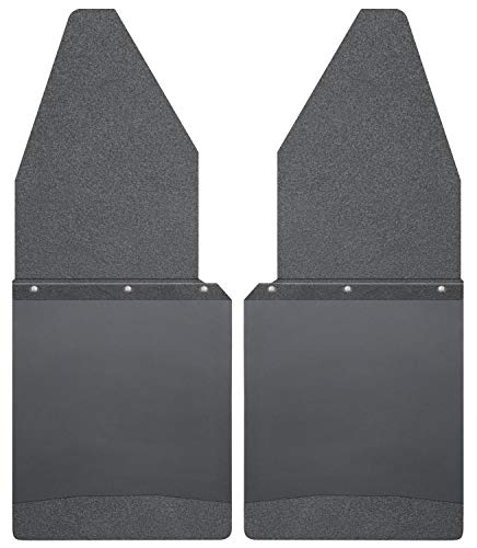 Husky Liners - 17105 Kick Back Mud Flaps 12IN Wide - Black Top/Wt Fits 88-18...