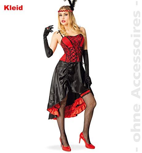 FRIES Cancan Kostüm Damen Saloonlady Moulinrouge Kleid Saloongirl Damenkostüm