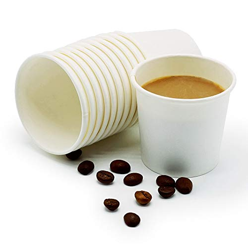 TashiBox Thick Espresso Cups Travel To Go, 4oz-200, White