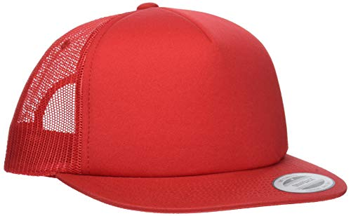 Flexfit Foam Trucker Cap, Red, One Size
