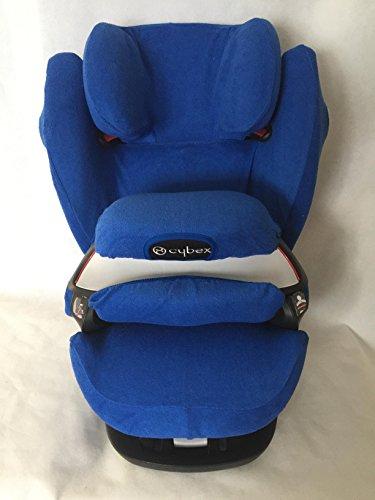 Sommerbezug Schonbezug für Cybex Pallas M und S + M- und S-Fix Frottee 100% Baumwolle blau