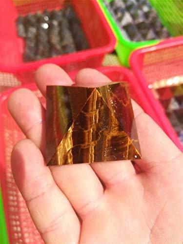 WERWER Ojo de Tigre Natural Tigre Ojo de Piedra Cuarzo de Cuarzo Pirámide de Cristal Punto para la decoración del hogar Artesanía