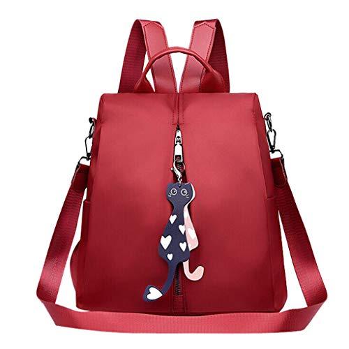 Miss Fortan Freizeitbeutel Mode Oxford Stofftasche Studententasche Damen Kleiner Rucksack