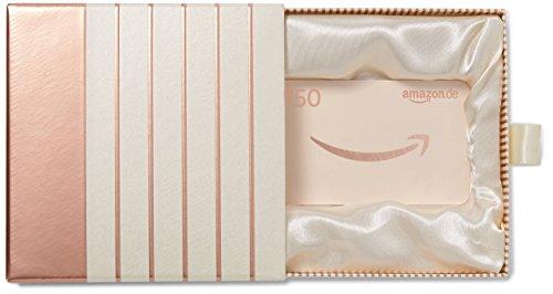Amazon.de Geschenkkarte in Geschenkbox - 50 EUR (Roségold)