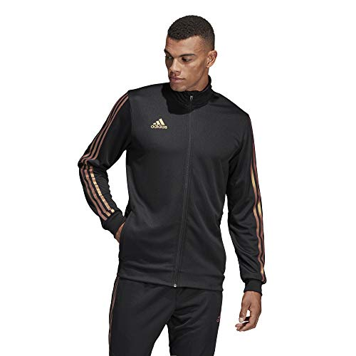 adidas Men's Alphaskin Tiro Training Jacket, Black/Nude Pearl Essence, Small