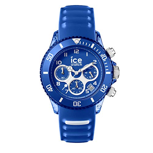 Ice-Watch - ICE aqua Marine - Blaue Herrenuhr mit Silikonarmband - Chrono - 001459 (Medium)