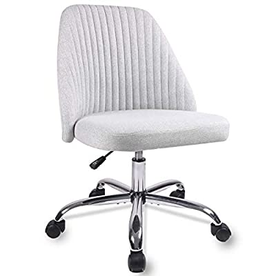 Home Office Chair, Modern Twill Fabric Chair Adjustable Desk Chair Mid-Back Task Chair Ergonomic Executive Chair-Grey from Rimiking