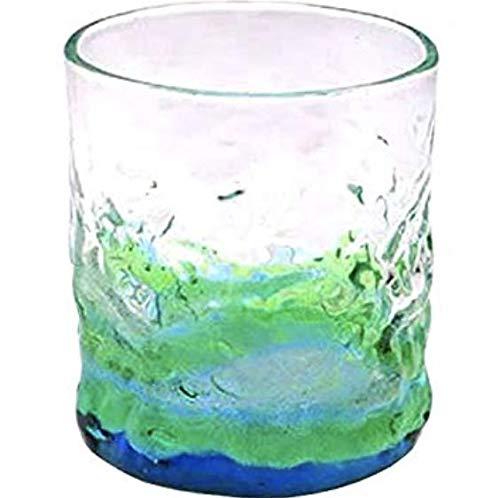 琉球ガラス 潮騒でこぼこグラス 緑・水【琉球ガラス村】