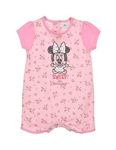 Minnie Coffret Barboteuse bébé Fille Blanc et Rose de 6 à 24mois - Rose, 18 Mois