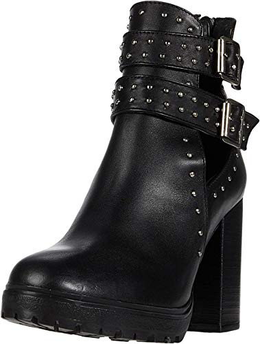 Steve Madden Frank Bootie Black Leather 8.5