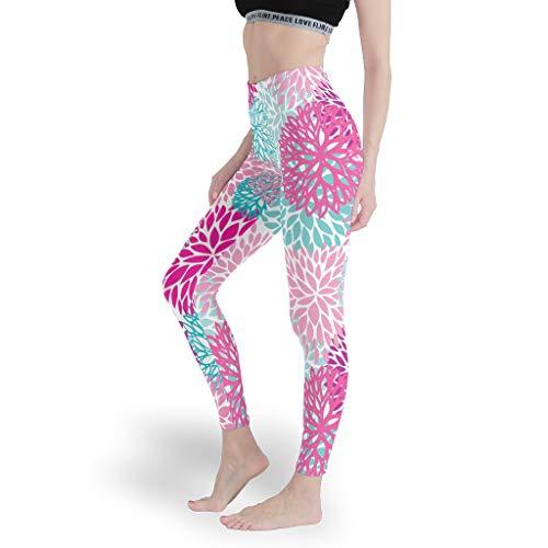 Mädchen Spaß Leggings Weich Gedruckt Yoga Hosen Dehnbar Capris Tights für Workout White XL