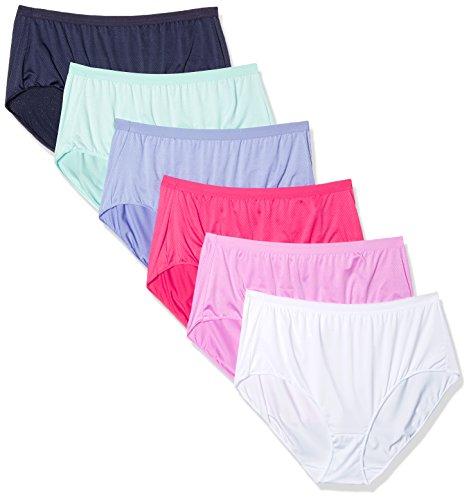 Hanes Women's Ultra Light Brief Panties 6 Pack, Assorted, 8