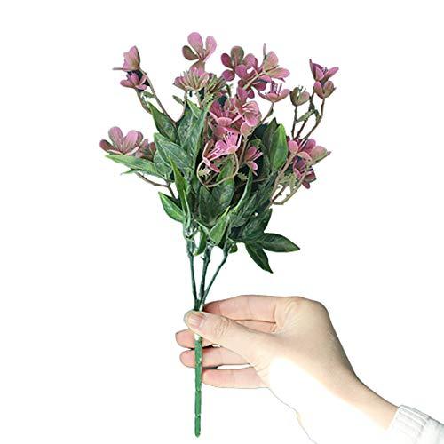 WanBeauty 1pc Disposizione dei Fiori Artificiali Bouquet da Sposa per Feste in Giardino Fai-da-Te per La Festa Nuziale, Disposizione dei Tavoli per L'home Office, Regalo per Il Festival Rosa Rossa