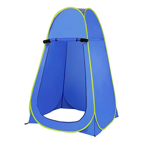 Denny International Pop-Up Changing Tent In Blue Camping Outdoor Portable Shower Toilet Changing Room Tent with Good Ventilation Easy to Put Up and Take Down