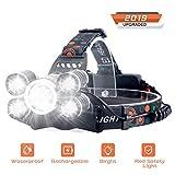 Headlamp Rechargeable LED Headlight 4 Modes, LED Waterproof Work Headlight,...