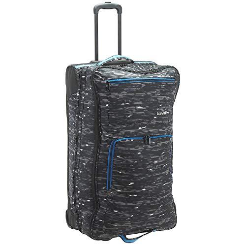 Travelite Basics Doppeldecker Rollenreisetasche 78 cm Black/Druck