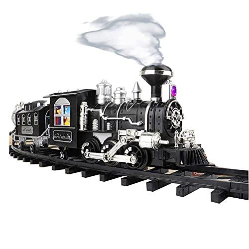 Tastak Tren de vapor eléctrico para niños Juego de trenes en miniatura...