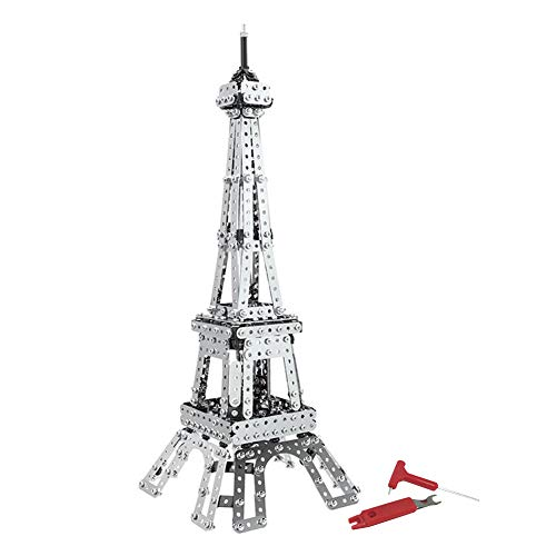 Dilwe Giocattolo 3D Puzzle Torre Eiffel E l'Empire State Building Puzzle in Metallo 3D(Torre Eiffel)
