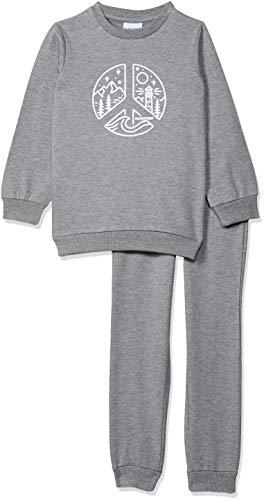 Blink Street Unisex-Child Regular fit Tracksuit (BS-1310-36_Grey Melange_4/5YR)