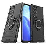 NOKOER Case for OPPO Find X3 Neo, 2 in 1 PC TPU Cover