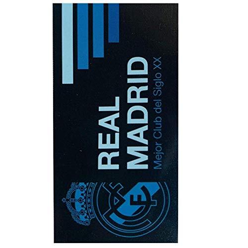 Real Madrid RM185005. Toalla de baño y Playa de Algodón 100% de 70x140 cm. Licencia Oficial.