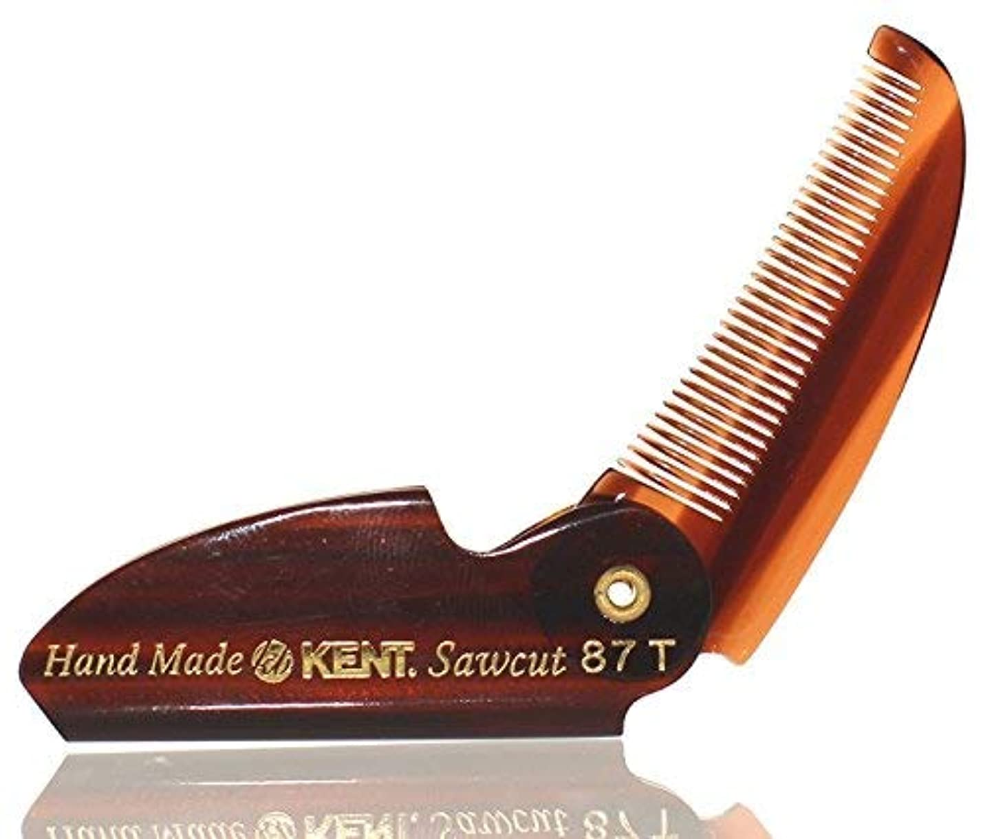 締め切りポーク光電BRAND NEW LIMITED EDITION KENT 87T FOLDING BEARD & MUSTACHE COMB by KENT COMBS (2 Pack) [並行輸入品]