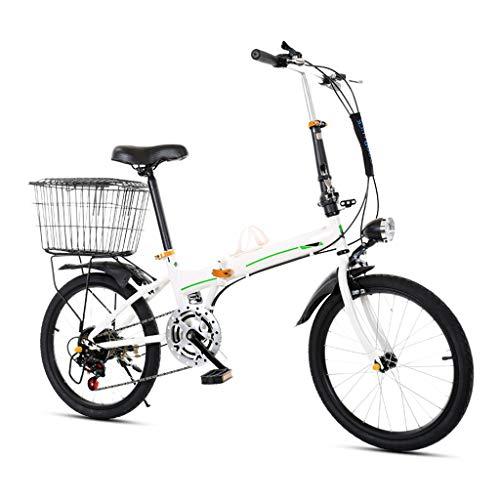 HFFFHA 20 conmuta portátil de Bicicletas Escuela de Trabajo Pulgadas Ligero Mini Bicicleta Plegable portátil Pequeño Estudiante Adultos de la Bicicleta en la Fast Bicicletas Plegables (Color : B)