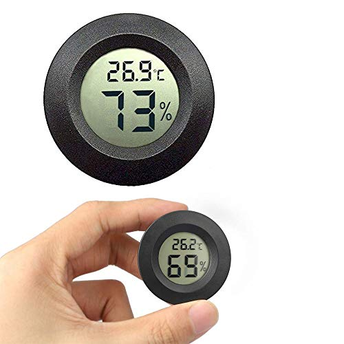 JEDEW Mini Hygrometer Thermometer, Innentemperatur-Feuchtigkeitsmesser für Grünhausinkubator Reptile Terrarium Humidor Zigar Guitar Case, Fahrenheit (℉)/Celsius(℃)