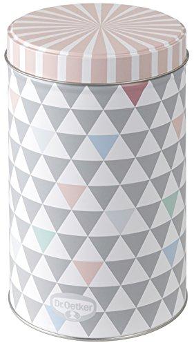 """Dr. Oetker Gebäck- und Aufbewahrungsdose 1,3 L, Vorratsdose aus der Serie \""""Modern Baking - Retro Design\"""" (Farbe: Bunt), Menge: 1 Stück"""