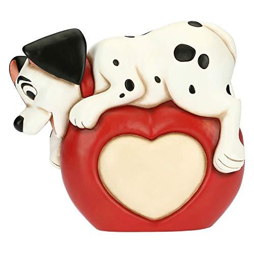 THUN - Cucciolo Dalmata Maxi con Cuore - Accessori Cucina, per la Tavola - Idea Regalo - Linea Disney - Ceramica - 29,6x13x27,1 cm h