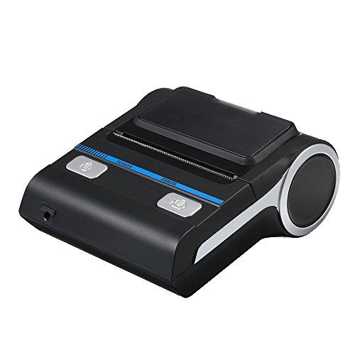 Docoolererbare, draagbare mini Premium BT printer QR code, zelfklevend, barcode, thermo-lijm, voor kleding, label printer, 80 mm, voor mobiel, met twee papierrollen