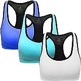 ANGOOL Damen Komfort Klassische Racerback Sport BH Top Fuer Yoga Fitness-Training -