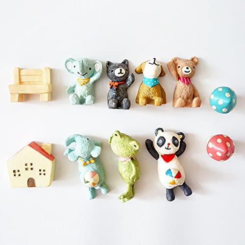 LIANYG Rana Panda Perro Gato Elefante imán de Nevera de Dibujos Animados Animal Pizarra Pegatina imanes de Nevera para Juguete Infantil
