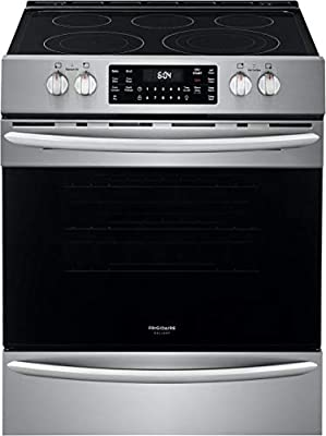 """Frigidaire FGEH3047VF Gallery Series 30"""" Electric Range with 5 Elements, 5.4 Cubic ft. Capacity Convection Oven, in Stainless Steel"""