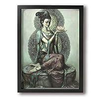 Yanghl 仏禅の瞑想 蓮 アートパネル フォトフレーム フレーム装飾画 アートポスター アートボード アートポスター インテリア 装飾画 壁掛け おしゃれ 部屋飾り キャンバス Arts モダン 木枠セット