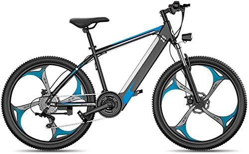 Bicicletas Eléctricas, Bicicleta de montaña eléctrica for adultos, 400W Nieve E-Bici 26 pulgadas Fat Tire Bicicleta eléctrica con 27 Velocidad de transmisión marchas y frenos hidráulicos de disco y Te